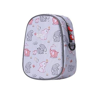Bolsa térmica, sunveno bebé biberón térmico bolsa Mantener Caliente Bolsa Térmica Para Leche Materna de almacenamiento gris