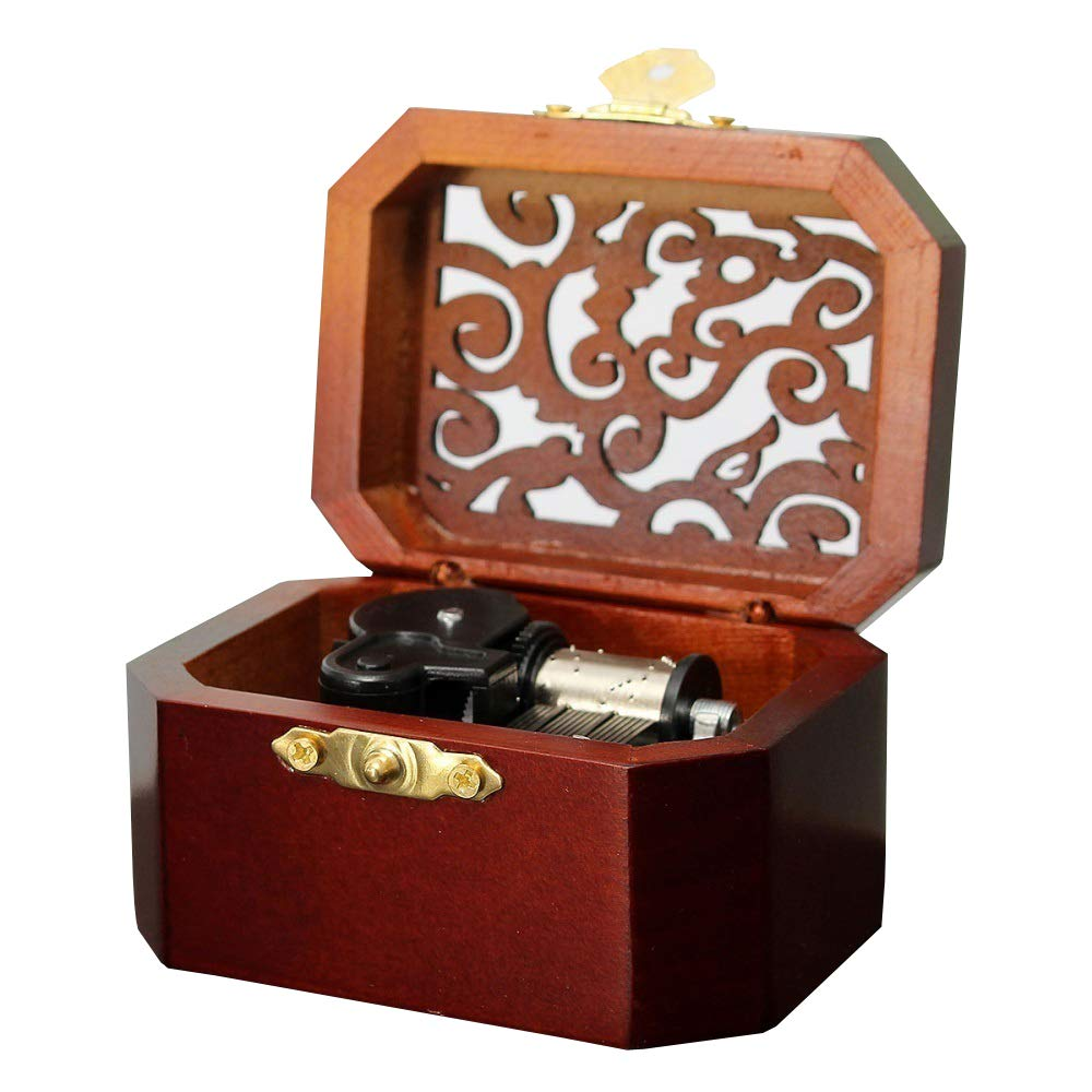 Anakin.jerry Wooden Octagon Carving Music Musical Box: : Once Upon a December (Soundtrack)