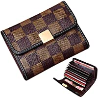 Women's Small Rfid Credit Card Holder Wallet Mini Canvas Leather Coin Purse