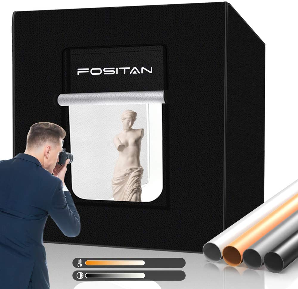 Fositan Fotostudio 80x80x80cm Dimmbare Bi Color 252pcs Kamera