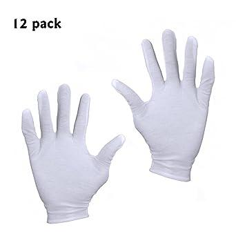 uniwey 12 par 8 pulgadas Color Blanco Guantes de algodón guantes ...