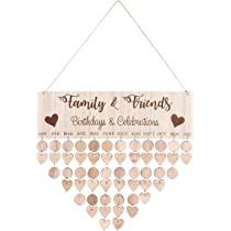 Family Blessings Birthday Reminder Wooden Board Calendar Wall Hanging Decor U S