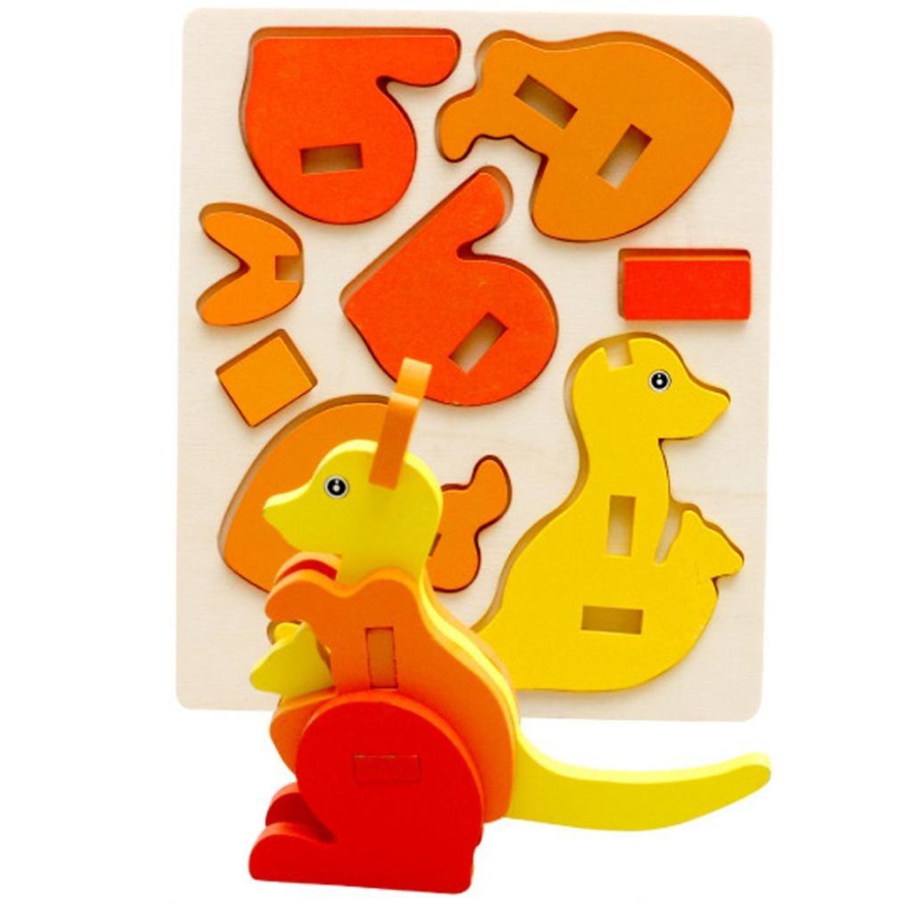 3D Puzzles de Madera WINWINTOM Montessori Mini Juguete Divertido Educativo para Ni/ños Regalo Colorido de Madera del Rompecabezas Modelo/_11