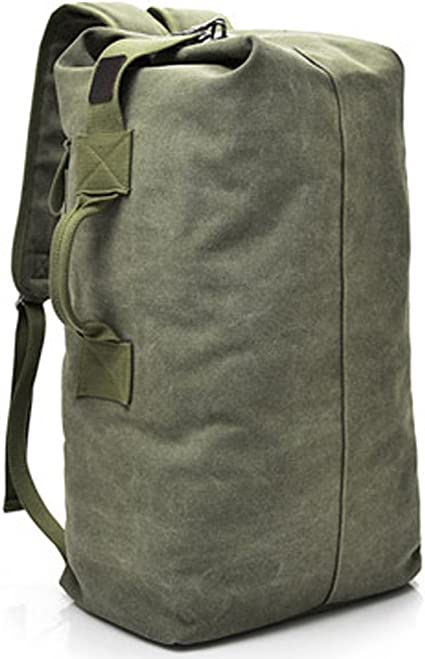 Military Duffel Bag Top Load Double Strap Canvas Backpack Army Travel Big Size Amazon Ca Luggage Bags