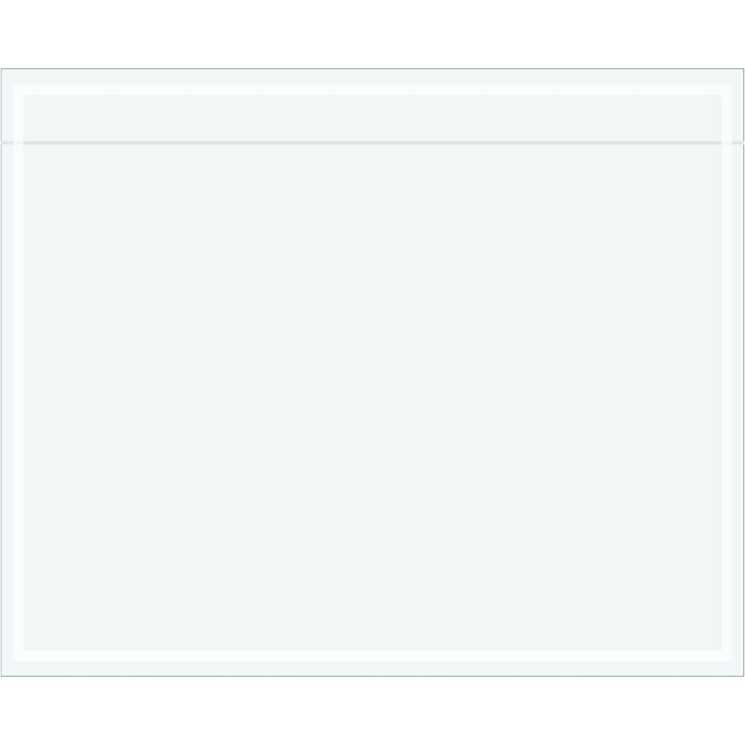 Tape Logic TLPL522 Clear Face Document Envelopes, 5 1/2' x 4 1/2', Clear (Pack of 1000) 5 1/2 x 4 1/2