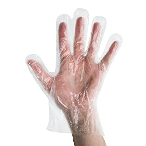 UltraSource Disposable Poly Gloves, Food Safe Powder/Latex Free, Clear, Size X-Large (Box of 500)