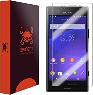 Skinomi Screen Protector Compatible with Sony Xperia XZ1 Compact Clear TechSkin TPU Anti-Bubble HD Film