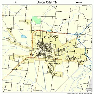Amazon.com: Large Street & Road Map of Union City, Tennessee ...