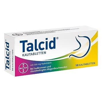 Talcid comprimidos masticables 500 mg, 50 ST: Amazon.es: Salud y ...