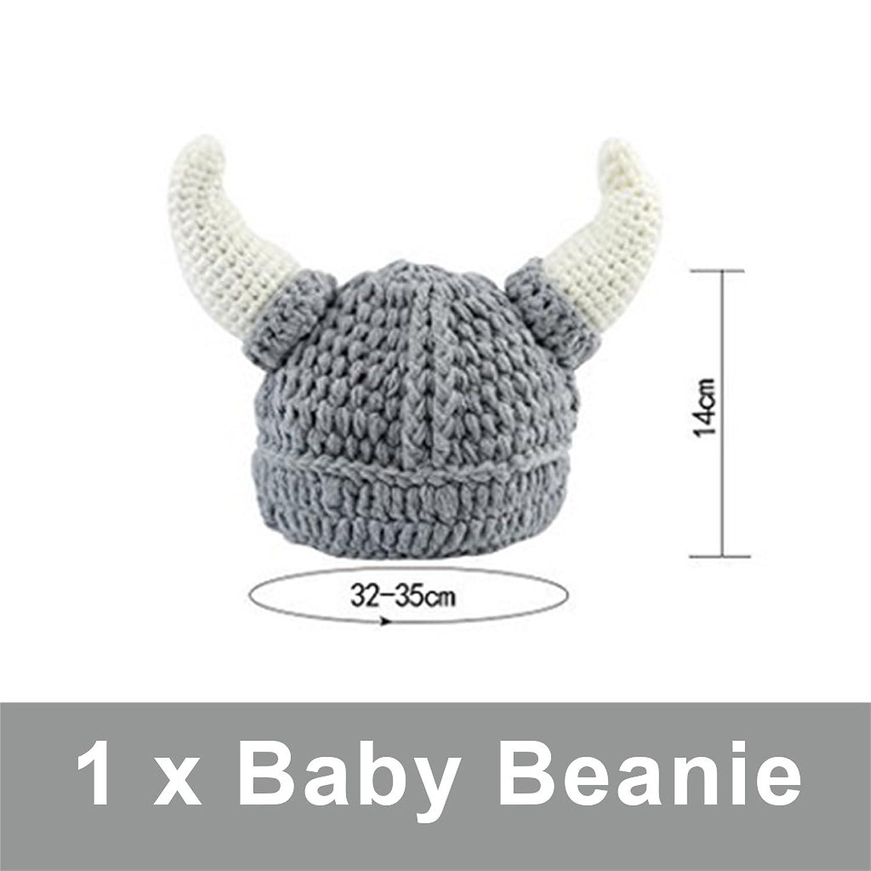 Sharplace Bull Hörnern Mütze Cap Handgefertigt Strickmütze Beanie ...