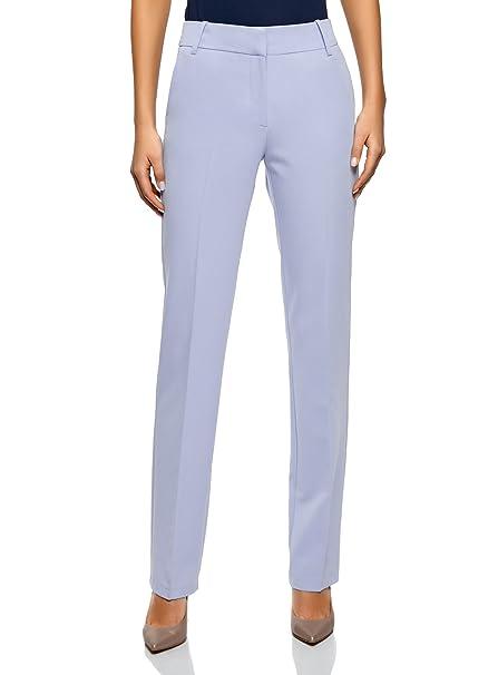 dcd1b73c4db3 oodji Collection Donna Pantaloni Classici Dritti: Amazon.it: Abbigliamento