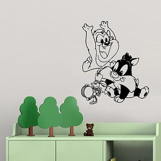 Amazon Com Fsds Vinyl Wall Decal Cartoon Decal Baby Tasmanian Devil Looney Tunes Home Decor Sticker Vinyl Decals Home Kitchen