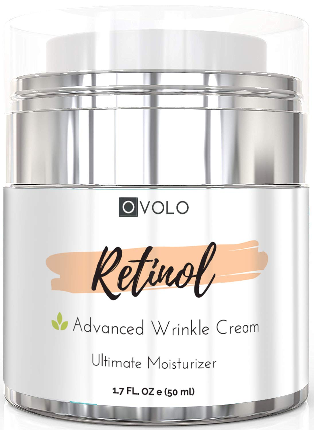 OVOLO Moisturizer Cream with Retinol for Face and Eye Area - BEST NEW 2019 Skin Care Option Formulated with Premium Ingredients (USA Made) - Anti Aging Rapid Wrinkle Repair Cream for Day and Night