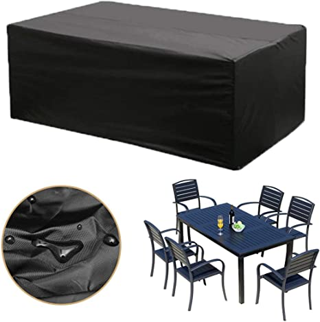 Joyfuldeal Large Patio Set Cover Waterproof Breathable Outdoor Garden Furniture Cover Table Cover For Rectangular Patio