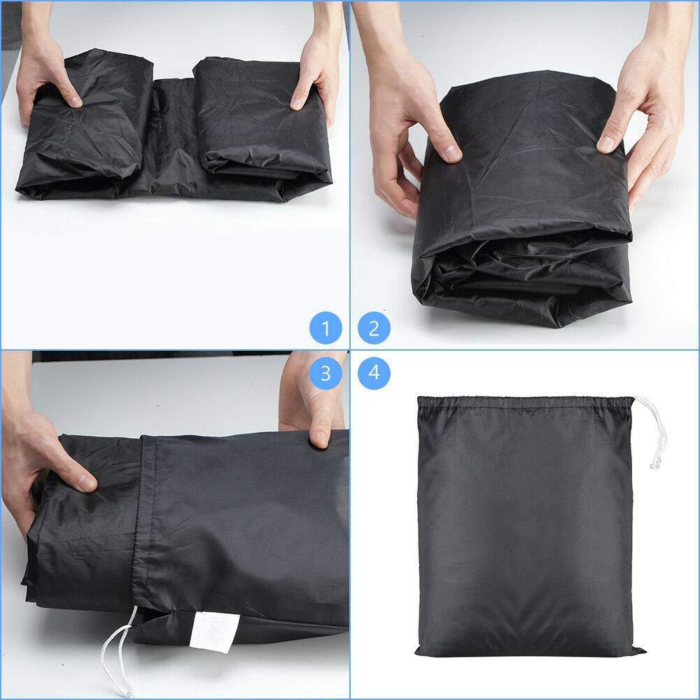 Elastic Base Wrap kemimoto Waterproof ATV Cover, Large Black Protects 4 Wheeler From Snow Rain or Sun,100 x43 x 47 Buckle