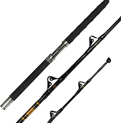 Fiblink 1-Piece Saltwater Offshore Heavy Trolling Rod Big Game Roller Rod