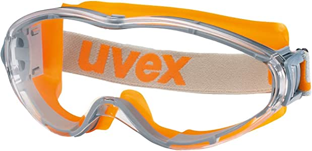 Uvex Ultrasonic Work Safety Goggles - Anti Fog and Scratch Resistant Protective Glasses