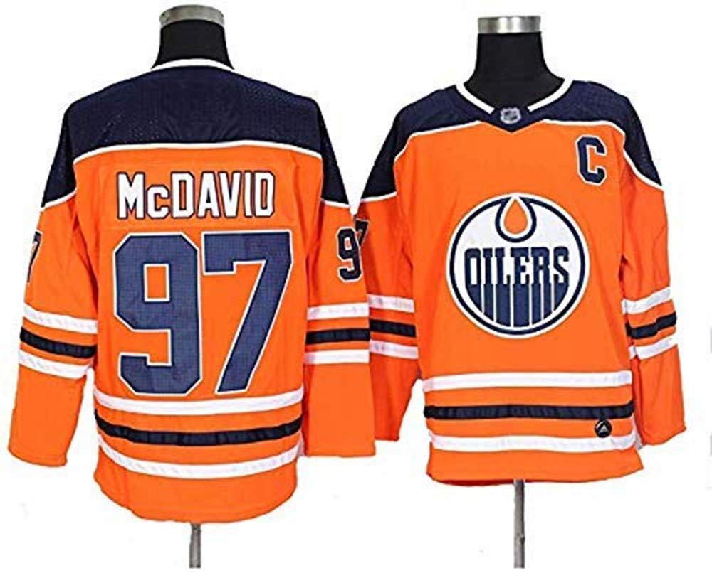 Maglietta Traspirante,Rosso,S 97 Nuovo Hockey Jersey YIMING Nuova Stagione di NHL Jersey Edmonton Oilers No 29 Edmonton Oilers Hockey Jersey Felpa Uomo