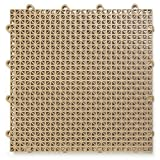DuraGrid CR48BEIG Cross-Rib Design, Interlocking Modular Self-Draining Multi-Use Safety Floor Matting, 48 Pack, Beige, Piece