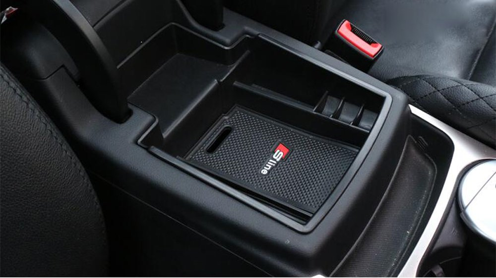 Salusy Car Center Console Armrest Box Glove Box Secondary Storage Compatible with Audi Q5 2008-2015