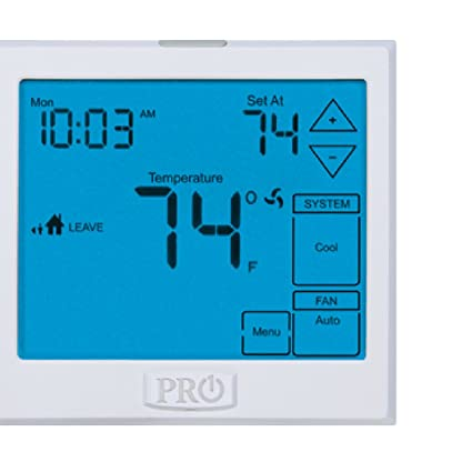 Pro1 Iaq T955 Touchscreen 3 Hot2 Cold 7 Day Thermostat With 13 Inch