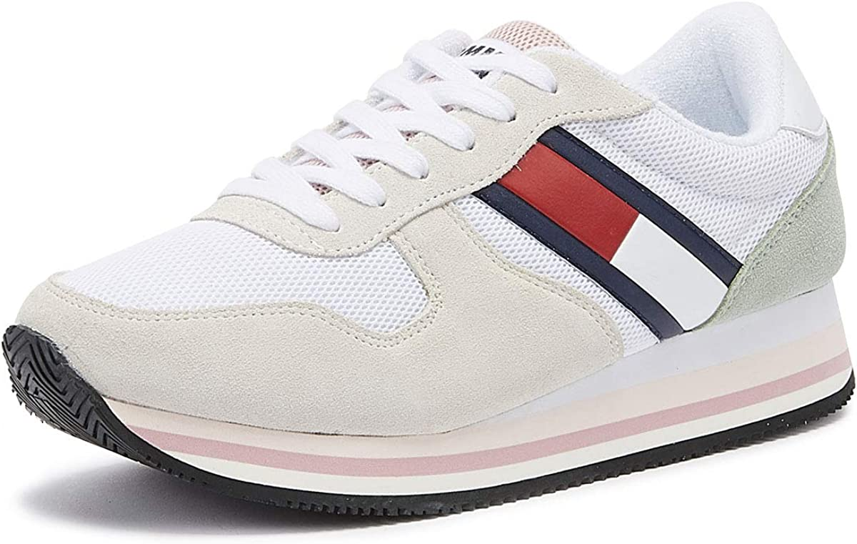 Tommy Jeans Retro Womens White Trainers