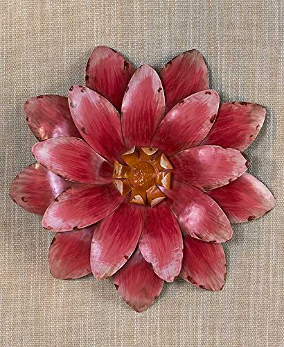 Handpainted Metal Wall Flower