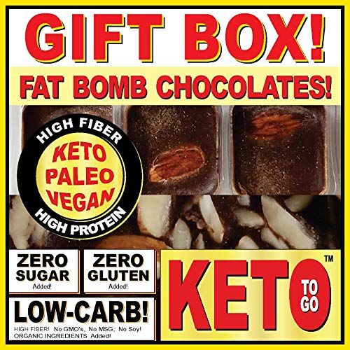 KETO BAKERY LOW CARB PIZZA & FAT BOMB HOLIDAY GIFT BOX ~ 75 Servings! GLUTEN FREE! NO SUGARS ADDED! HIGH FAT LOW CARB DESSERT MEALS, FAT BOMBS by KETO TO GO (Image #4)
