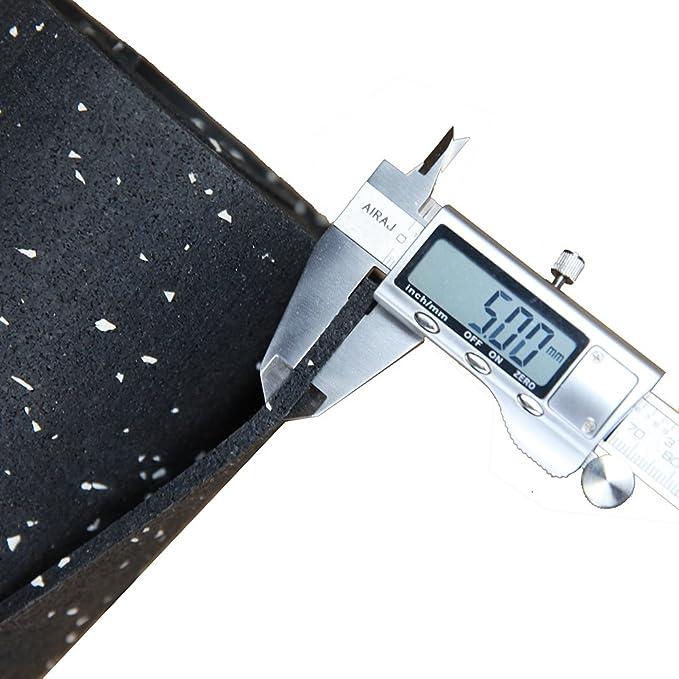 72 x 48 x 0.2 Truck Mat Black Fitness Mat 5 mm Thick 26 lbs Heavy Duty Durable Rubber Mat for Gym Floor Mats RevTime Rubber Gym Equipment Mat 6 x 4 Feet Treadmill Mat Pickup Mat