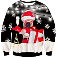 Freshhoodies Unisex 3D Impreso Feo Navidad Jersey Sudaderas Navidad Ugly Sweater Pulóver Jumpers Camiseta S-XXL