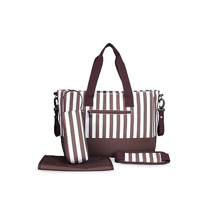 huaen negro y blanco rayas funda mamá bolsas de bolso de mano (cambio económico y