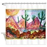 CafePress Desert! Southwest art! Shower Curtain Decorative Fabric Shower Curtain (69''x70'')