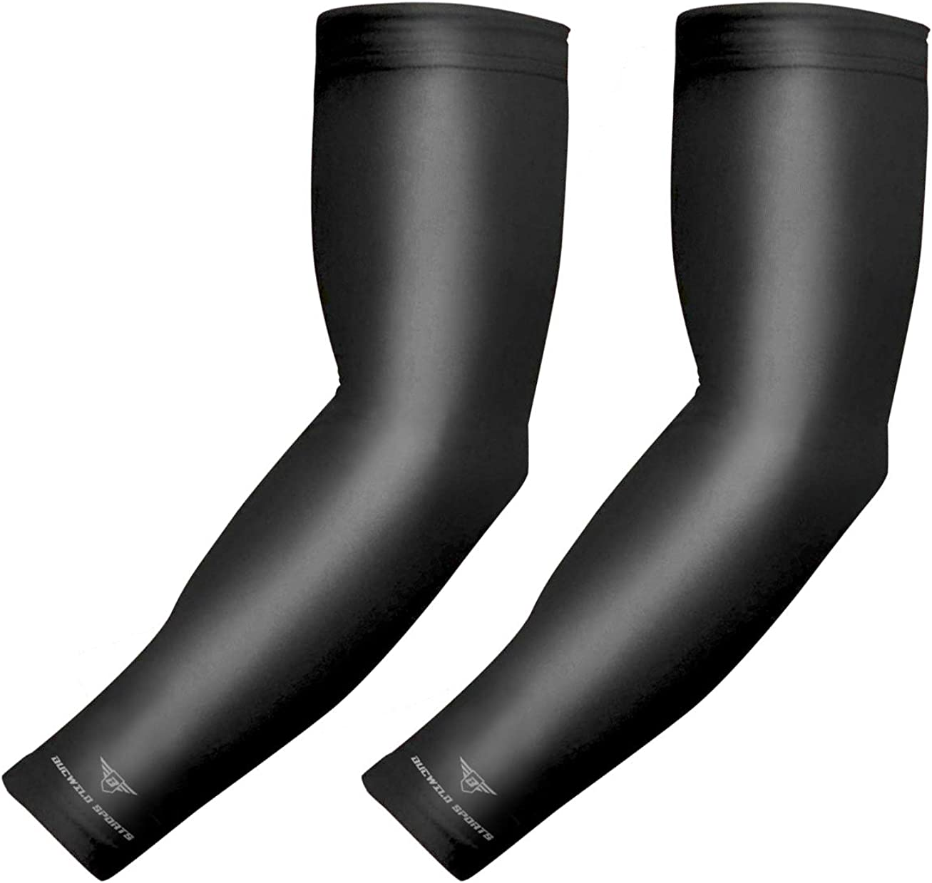 COOLOMG Compression Arm Sleeves Sports Baseball Basketball Football Cycling Youth /& Adult Sizes 1 Pair