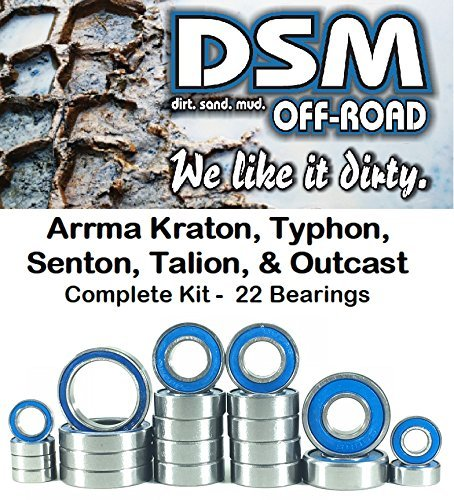 Arrma Outcast, Kraton, Typhon, Senton & Talion Bearing Kit Set (22 Bearings)