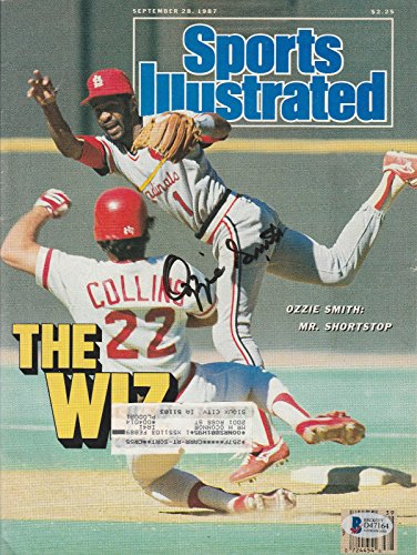 Ozzie Smith Signed Auto Sports Illustrated Magazine Bas Coa St Louis Cardinals - Beckett Authentication