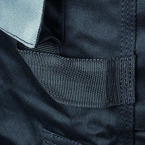 Blackrock 7640740 - Los Hombres De Workman Corto Plancha - Negro / Gris, 40 Pulgadas