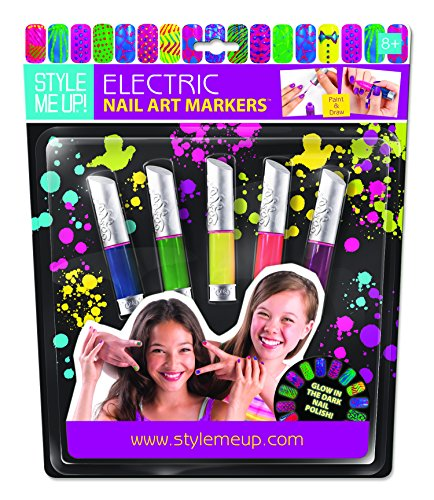 Glow Starter Set (Style Me Up! Electric Nail Art Marker 5 Bottles Childrens Drawing)