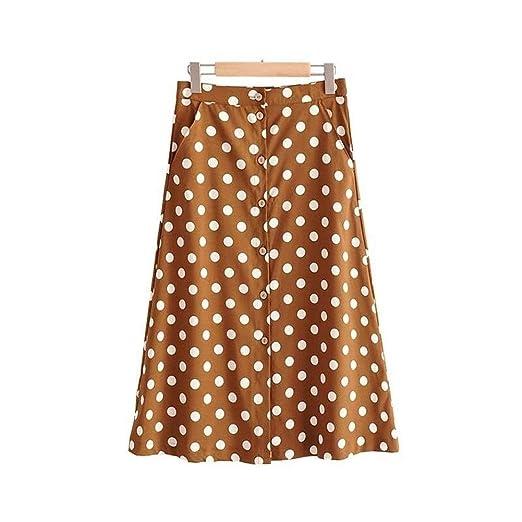 Huisongda Faldas de una línea for Damas Falda de Punto de Onda con ...