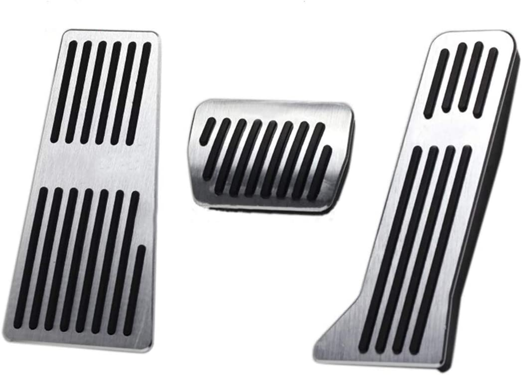 for Mazda cx 5 Car Performance Brake Pedal Cover No Drill Non-Slip and Throttle Rubber Aluminum Anti-Skid Pedals Set at 3Pcs