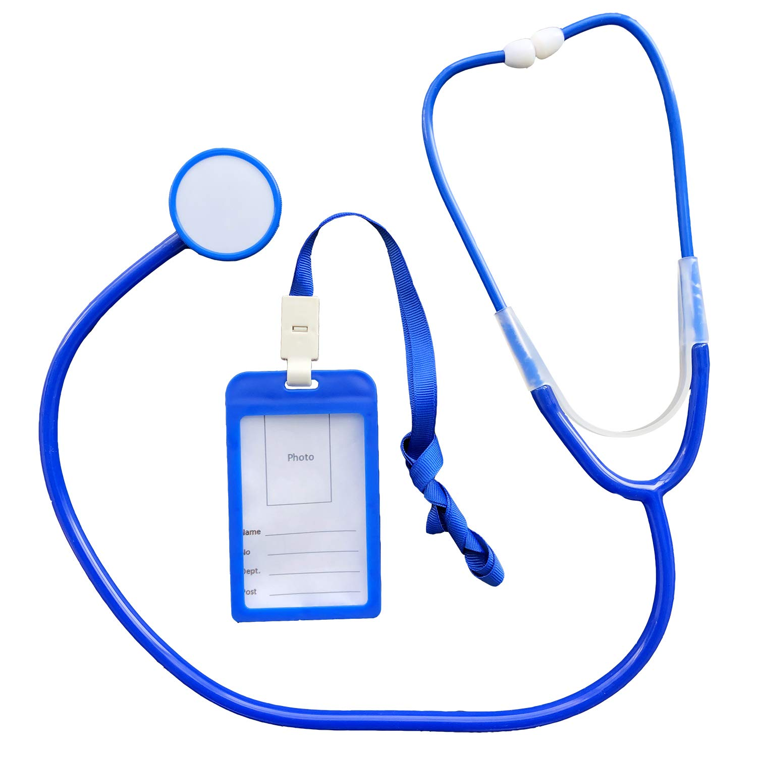 Doctor Play Set Medical Pretend Play Kit with Stethoscope, Doctor Costume, ID Cards, Name Tag for Learning & Educational Fun