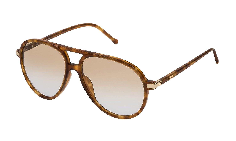 Loewe SLW972M5606PL Gafas de Sol, Shiny Light Havana, 56 ...