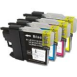 Brother(ブラザー) LC11/16 4色セット 高品質 純正互換インクカートリッジ 残量表示機能付き ショップWESI オリジナル