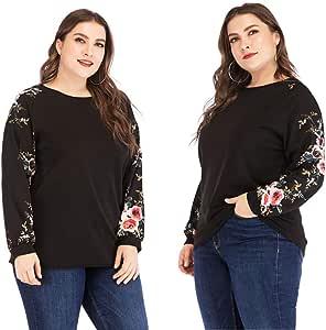 Blusas Camiseta Mujer, Madeuf Mujer Tallas Grandes Moda ...