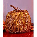 The Lakeside Collection Large Lighted Grapevine Pumpkin