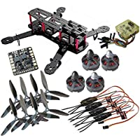 Hobbypower DIY 250mm Mini Quadcopter H250 FPV Drone Frame Kit + MT2204Ⅱ 2300KV Motor + Simonk 12A ESC + CC3D Flight Controller +6045 Props