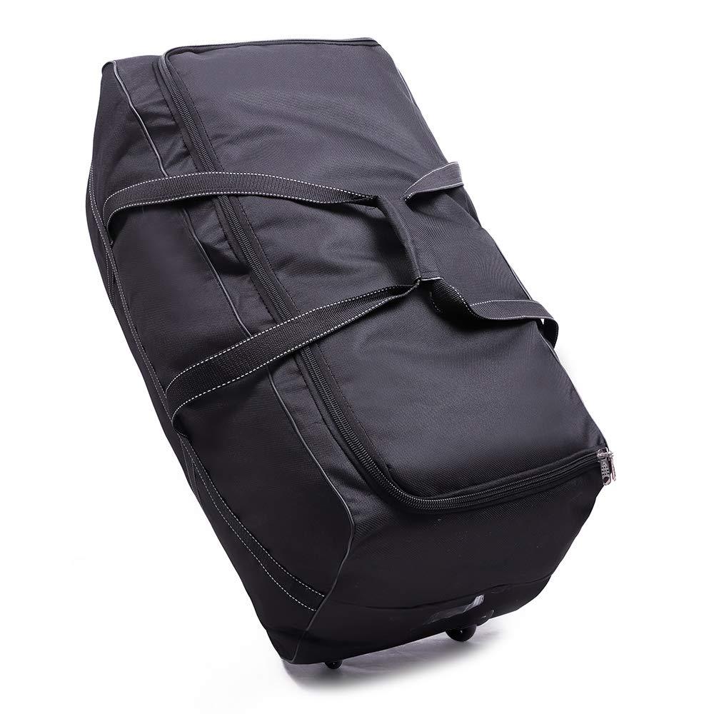 OOSAKU Große Spaziergänger-Reise-Duffel Bag Faltbare rollende fahrbare Holdall-Gepäck-Taschen für Kinderwagen-Auto Seat Gate Check (Stil A) LUNZIbk