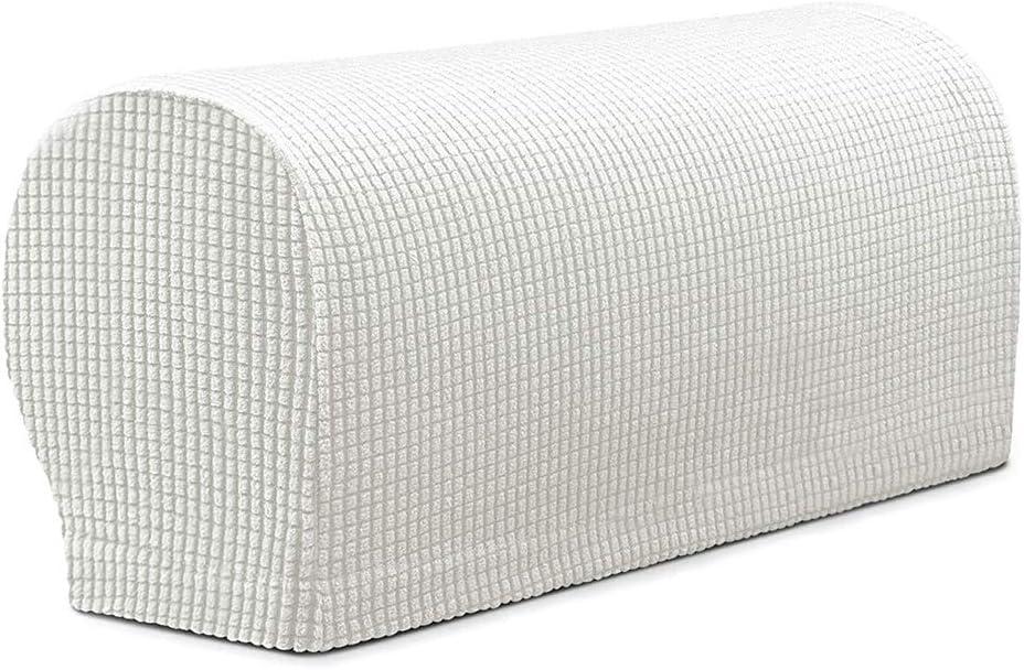 Fenteer Couvertures dAccoudoir Extensible Protections Bras de Canap/é 2X Beige