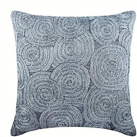Federe Cuscini 55x55.The Homecentric Argento 55x55 Cm Art Silk Fodere Per Cuscini Con