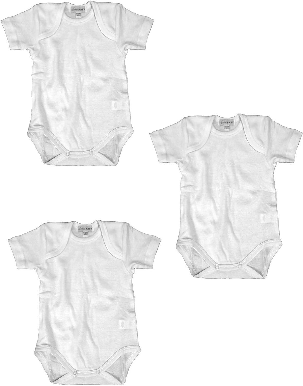 05832B//T407 Bianco Liabel 3 Body neonata//o Manica Corta 100/% Cotone Art
