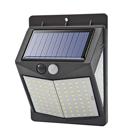 LED Solar Power PIR Motion Sensor Wall Security Light Lamp Patio Garden Outdoor